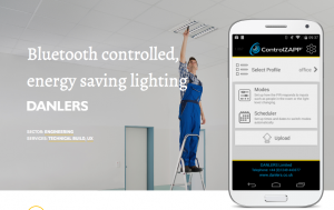 Building bluetooth controlled, energy saving lighting apps